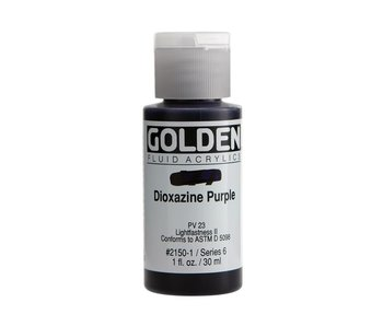 Golden 1Oz Fluid Dioxazine Purple Series 6 Artist Acrylic Paint