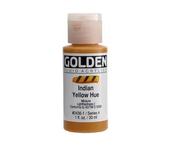Golden 1Oz Fluid Indian Yellow Hue Series 4 Artist Acrylic Paint