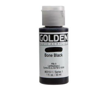 Golden 1Oz Fluid Bone Black Series 1 Artist Acrylic Paint