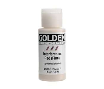 Golden 1Oz Fluid Interference Red (Fine) Series 7 Artist Acrylic Paint