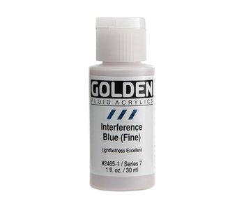 Golden 1Oz Fluid Interference Blue (Fine) Series 7 Artist Acrylic Paint