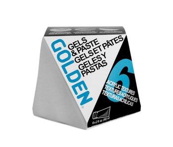 Golden Acrylic Gel Mediums & Molding Pastes Set 6Pk