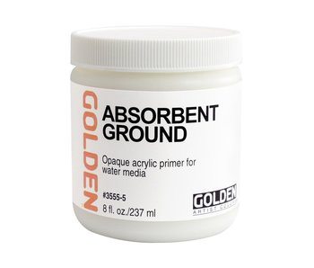 Golden Medium 8Oz Absorbant Ground White for Acrylic Painting