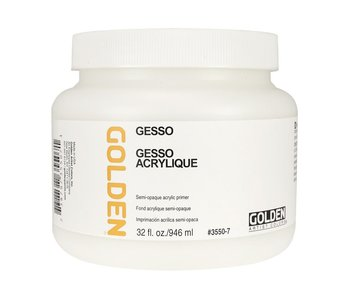 Golden Medium 32Oz Gesso for Acrylic Painting