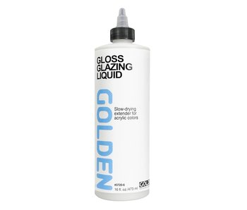 Golden Medium 16Oz Gloss Glazing Liquid for Acrylic Painting