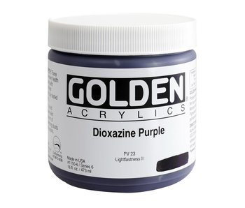 Golden 16Oz Dioxazine Purple Series 6 Heavy Body Artist Acrylic Paint HB