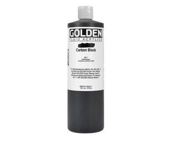 Golden 16Oz Fluid Carbon Blackseries 1 Heavy Body Artist Acrylic Paint HB