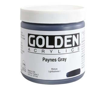 Golden 16Oz Paynes Gray Series 2 Heavy Body Artist Acrylic Paint HB