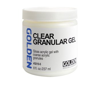 Golden Medium 8Oz Clear Granular Gel for Acrylic Painting