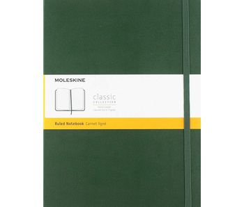 MOLESKINE CLASSIC COLLECTION HARD COVER RULED NOTEBOOK  7.5X9.75 GREEN
