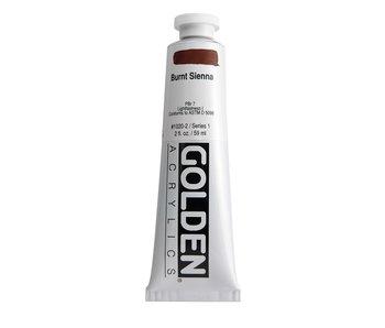 Golden 2Oz Burnt Sienna Heavy Body Series 1 Artist Acrylic Paint