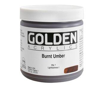 Golden 16Oz Burnt Umber Series 1 Heavy Body Artist Acrylic Paint HB