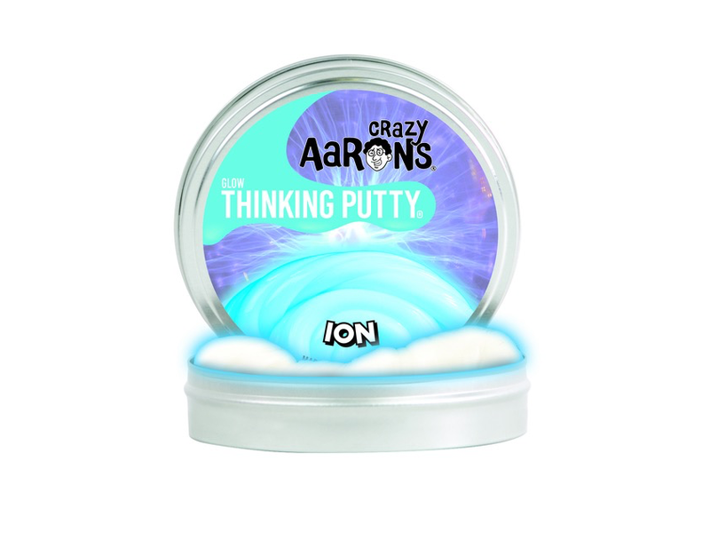 """Crazy Aaron's Thinking Putty 4"""" Tin Ion Glow In The Dark"""