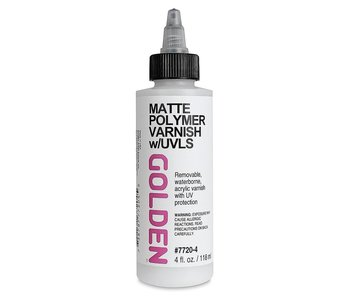 Golden Medium 4Oz Polymer Varnish Matte for Acrylic Painting