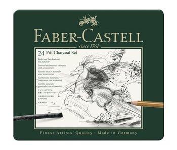 Faber Castell Pitt Charcoal Set Tin / 24