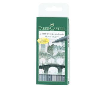 Faber Castell Pitt Pen 6 Set Shades Of Grey