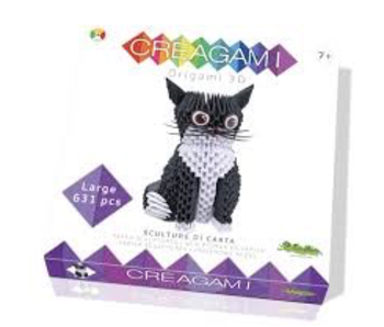 Creagami Paper Sculpture Cat