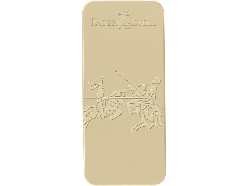 Faber Castell Grip Edition Gold Metal Tin Set