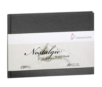 Hahnemuhle Nostalgie Hard Cover Sketch 40 sheet/80 page book, landscape
