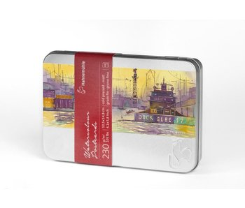 Hahnemuhle Watercolour Postcards in Metal Tin Cold Pressed - 30 sheets in metal tin 230 gsm 4.1 x 5.8""