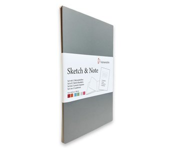 """Sketch & Note Booklets 125gsm 20 sh/40 pg Book - Grey/Pink 4.13 X 5.83"""""""