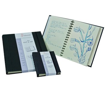 Hahnemuhle Sketch Diary 120gsm Ruled sketch book 60 sheets/120 pages 8.27x11.69""