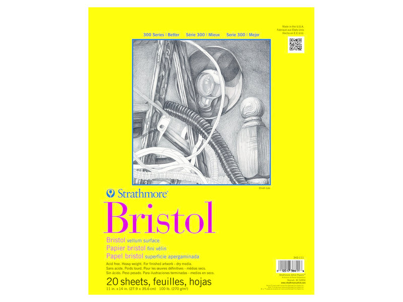 Strathmore Bristol Smooth Pad 11X14 20 Sheets