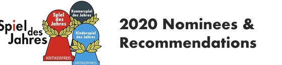 Spiel De Jahres 2020 Nominees