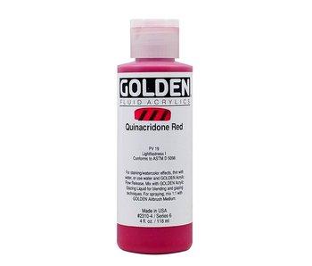GOLDEN 4OZ FLUID QUINACRIDONE RED SERIES 6