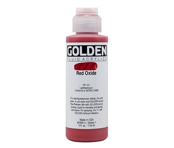 GOLDEN 4OZ FLUID RED OXIDE SERIES 1