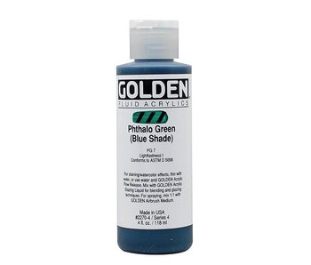 GOLDEN 4OZ FLUID PHTHALO GREEN (BLUE) SERIES 4
