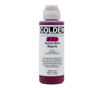 GOLDEN 4OZ FLUID QUINACRIDONE MAGENTA SERIES 7