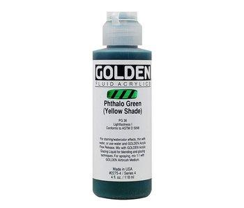 GOLDEN 4OZ FLUID PHTHALO GREEN (YELLOW) SERIES 4