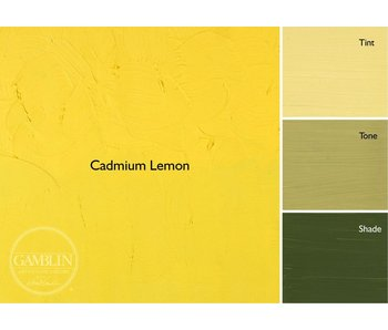 GAMBLIN ARTIST'S OIL COLORS 37ML CADMIUM LEMON