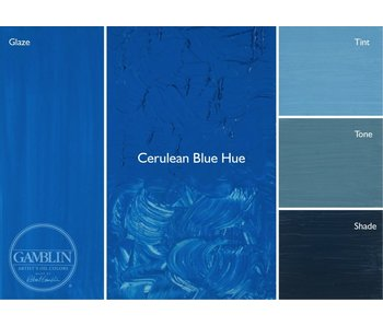 GAMBLIN ARTIST'S OIL COLORS 37ML CERULEAN BLUE HUE