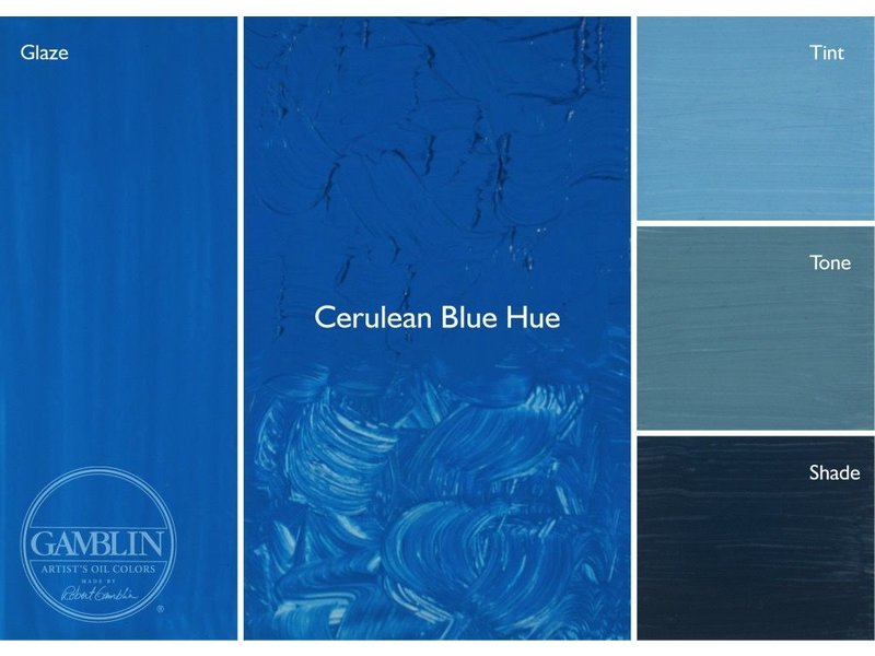 GAMBLIN GAMBLIN ARTIST'S OIL COLORS 37ML CERULEAN BLUE HUE