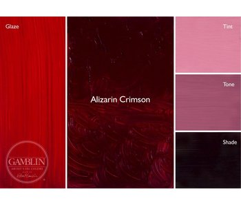 GAMBLIN ARTIST'S OIL COLORS 37ML ALIZARIN CRIMSON