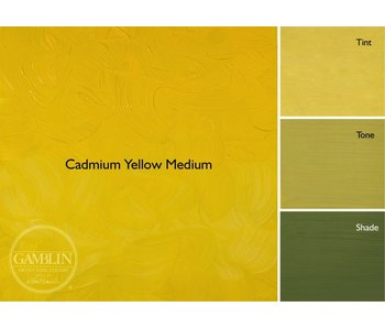 GAMBLIN ARTIST'S OIL COLORS 37ML CADMIUM YELLOW MEDIUM