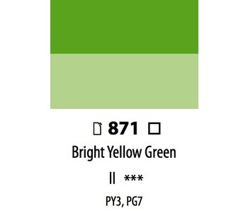 ABSTRACT ACRYLIC 120ML BAG BRIGHT YELLOW GREEN