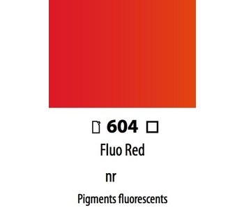 ABSTRACT ACRYLIC 120ML BAG FLUORESCENT RED