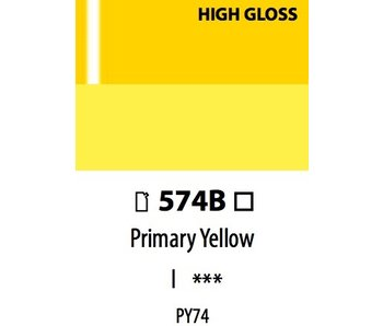 ABSTRACT ACRYLIC 120ML BAG HIGH GLOSS PRIMARY YELLOW
