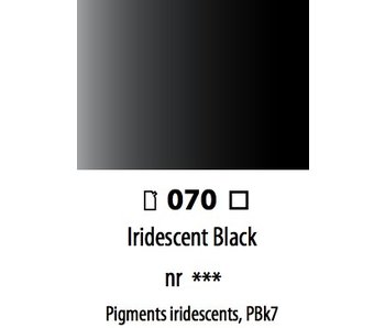 ABSTRACT ACRYLIC 120ML BAG IRIDESCENT BLACK
