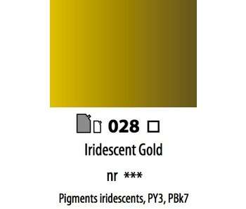 ABSTRACT ACRYLIC 120ML BAG IRIDESCENT GOLD