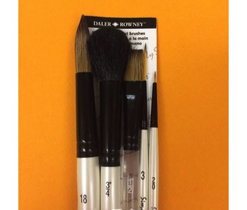 SIMPLY SIMMONS 5 BRUSH WC NAT BRUSH SET