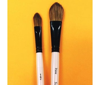 SIMPLY SIMMONS WATERCOLOUR BRUSH OVAL WASH BROWN 3/4