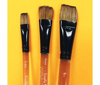 SIMPLY SIMMONS WATERCOLOUR BRUSH FLAT WASH 3/4