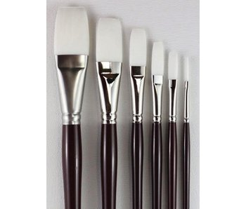 HJ SERIES 980 WHITE TAKLON BRUSH FLAT #1/8