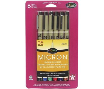 MICRON 05 BASIC COLORS 6 SET