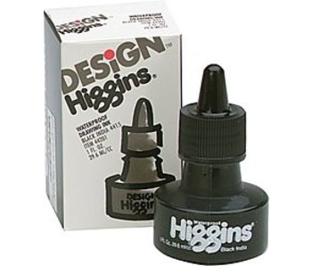 HIGGINS BLACK INDIA INK 1OZ