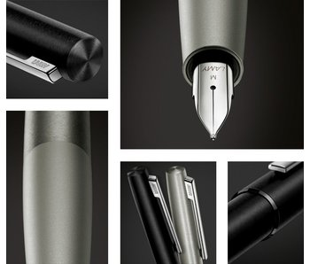 LAMY FOUNTAIN PEN AION BLACK STEEL BROAD